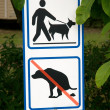 Stock Photo: Dogs sign