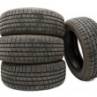Set of Tyres - Stock Photo