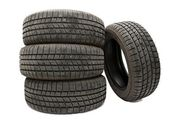 Set of Tyres — Stock Photo