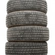 Stock Photo: Set of Tyres