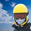 Skier and blue sky — Stock Photo