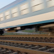 Train motion — Stock Photo