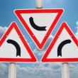 Stock Photo: Curve Signs