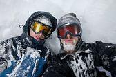 Snowy men — 图库照片