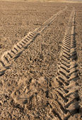 Tractor trail — Stock Photo