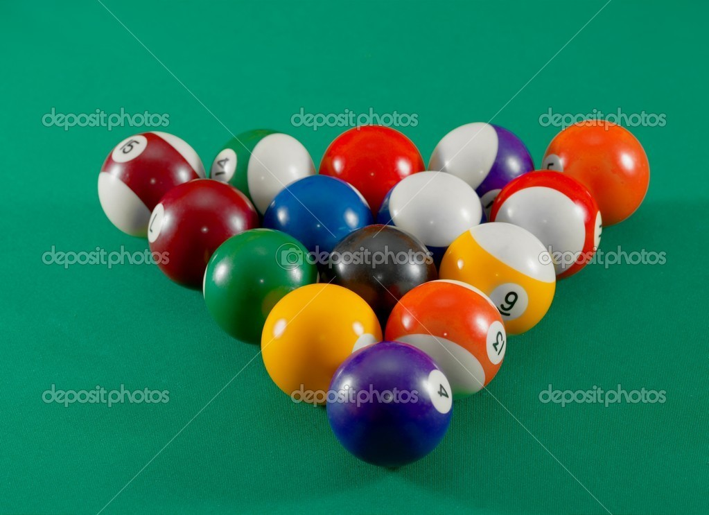 Pool table balls moving