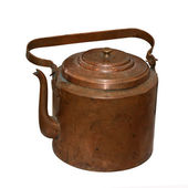 The ancient copper teapot — Stock Photo