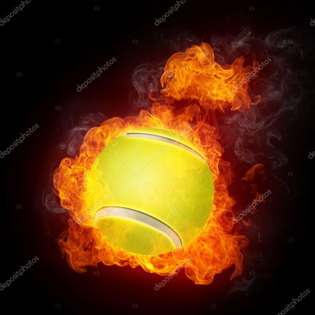 Tennis Ball On Fire Tennis ball on fire.