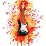 guitarra eléctrica — Vector de stock