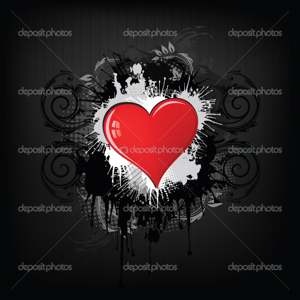 Valentine's Day Heart with Floral Abstract Isolated on White Background.Vector. — Stock Vector #4734591