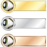 Soccer medals — Stock Vector