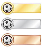 Soccer medals — Stock Vector