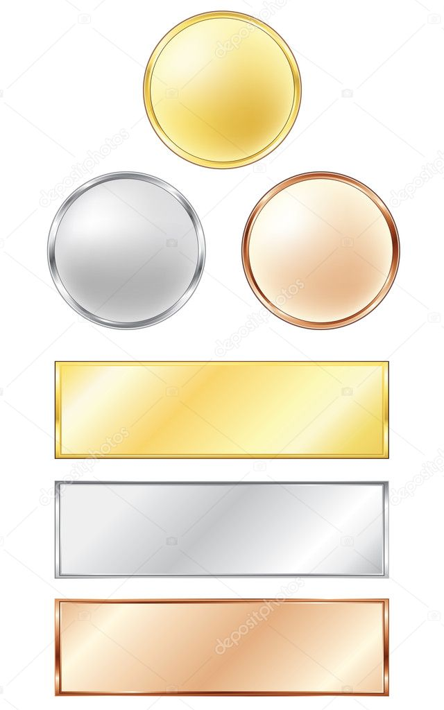 Sport medals isolated on the white background. Vector. — Stock Vector #5045776