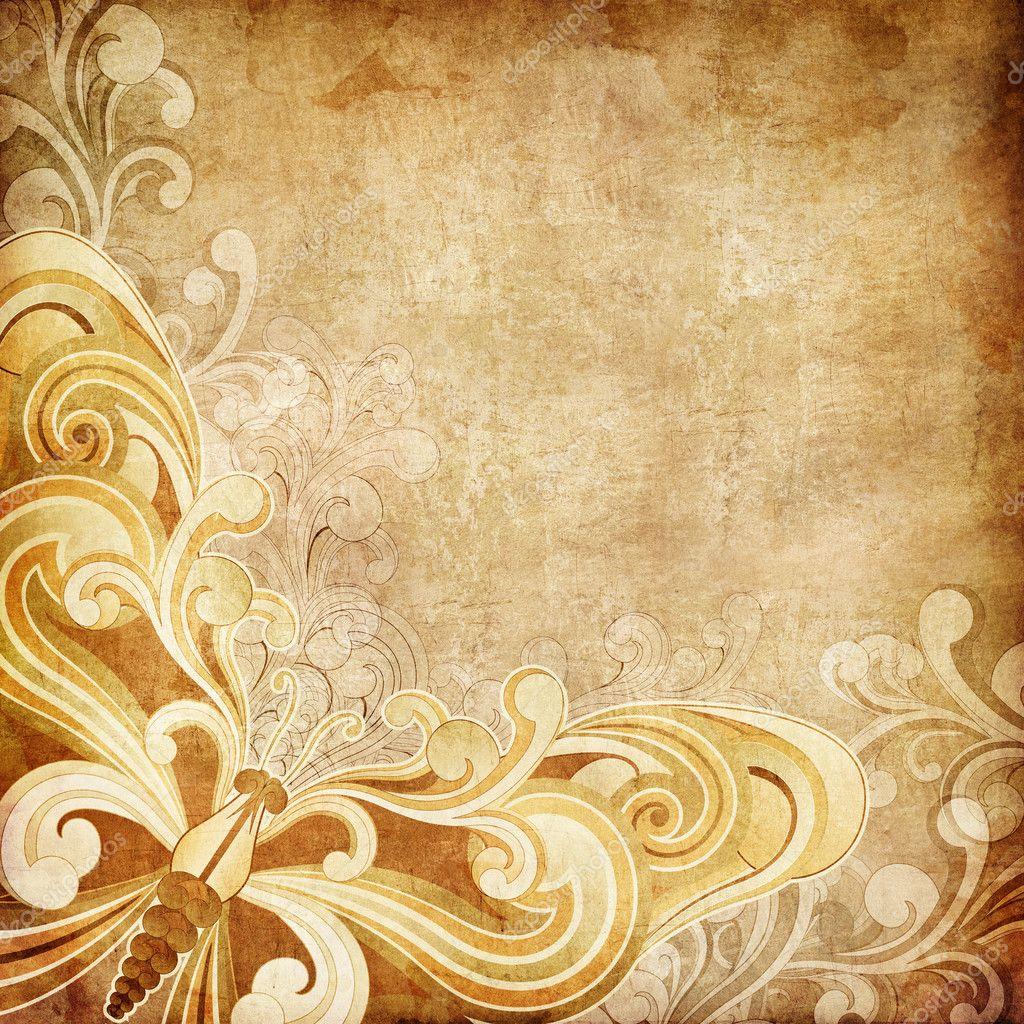 Old Paper. Retro Swirl Texture Background. Vector.  Stock Photo #5270668