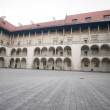 Wawel castle courtyard - Stock Photo