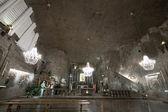 Christmas installation in Wieliczka salt mine — Zdjęcie stockowe