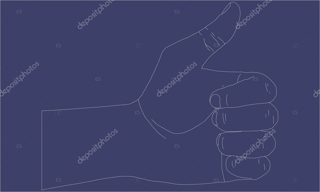 Vector hand showing thumbs up  — Stock Vector #5276628