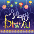 Happy Diwali greeting - Stock Vector