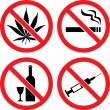 Royalty-Free Stock Vector Image: Forbidding  Vector Signs