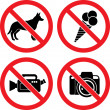 Forbidding Vector Signs — Stock Vector #4174712