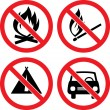 Forbidding Vector Signs — Stock Vector #4756467