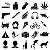 Simboli vettoriali — Vettoriale Stock