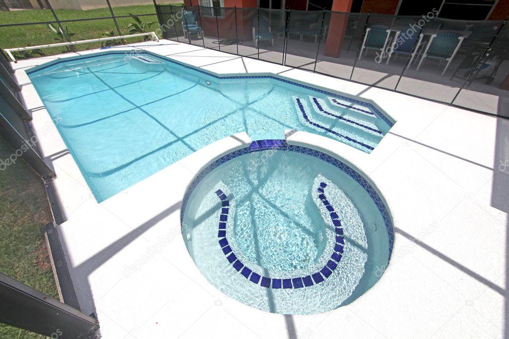 Pool spa and lanai stock photo quackersnaps 4496248 for Pool lanai cost