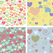 For patterns for valentine — Stock Vector