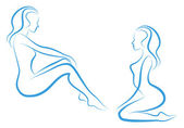 Kvinna skiss, vektor — Stockvektor