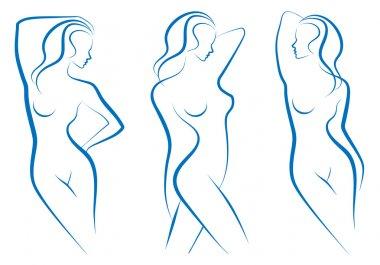 Woman sketch, vector
