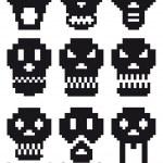 Pixel skulls, vector — Stock Vector #3967791