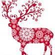 Vánoce jelen, vektor — Stock vektor