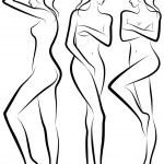 Woman body, vector — Stock Vector