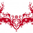 Christmas deer, vector — Vector de stock #4058291