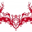 Christmas deer, vector -  