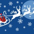 Royalty-Free Stock Vektorfiler: Santa with his sleigh