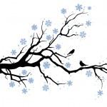 Zimní strom větev — Stock vektor
