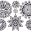 Lace pattern, vector - Stock Vector