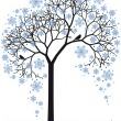 Winter tree, vector — Stock vektor