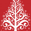 Ornamental christmas tree — Stockvectorbeeld