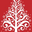 Ornamental christmas tree — Imagen vectorial