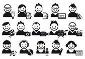 Creativo, iconos vectoriales — Vector de stock