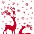 Reindeer in snowfall, vector — Stock Vector #4263387