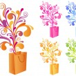 Royalty-Free Stock Vector Image: Decorative shopping bag, vector