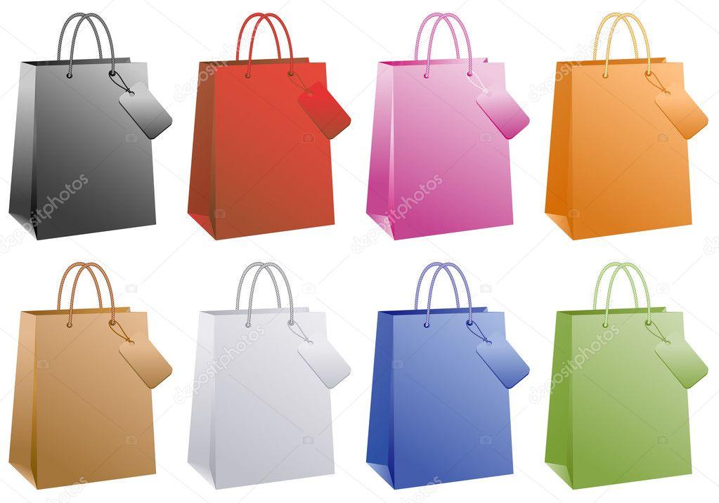Black Lady Shopping Bags Stock Illustrations  773 Black