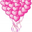Royalty-Free Stock Imagen vectorial: Big balloon heart