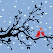 Winter love — Vector de stock