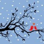 zimní láska — Stock vektor