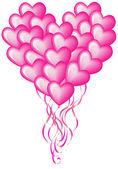 Big balloon heart — Stock Vector