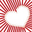 Red heart pencils — Stock Vector